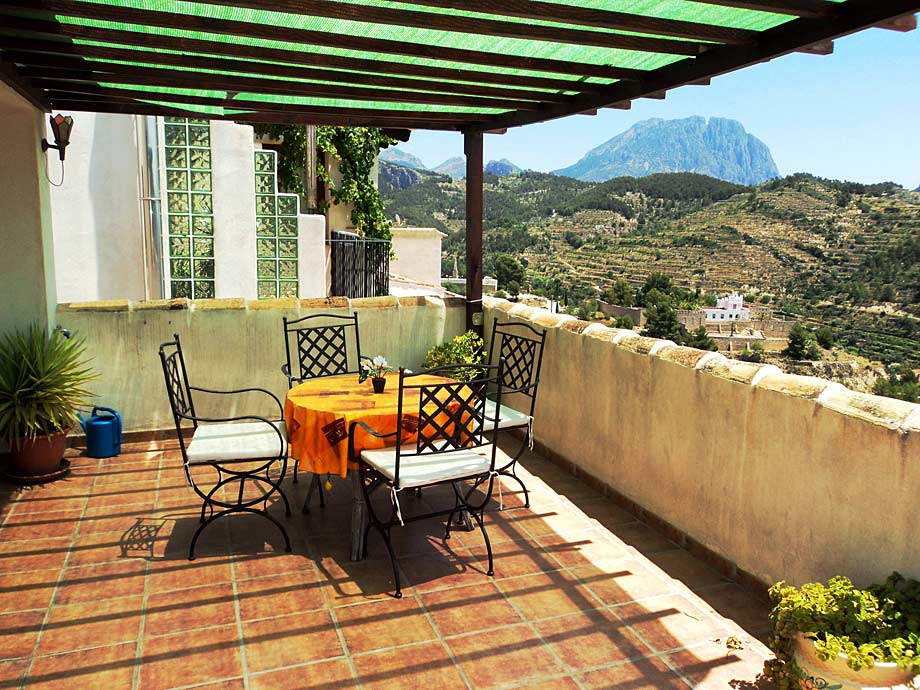 Terrace of Casa Roc Guesthouse, Sella