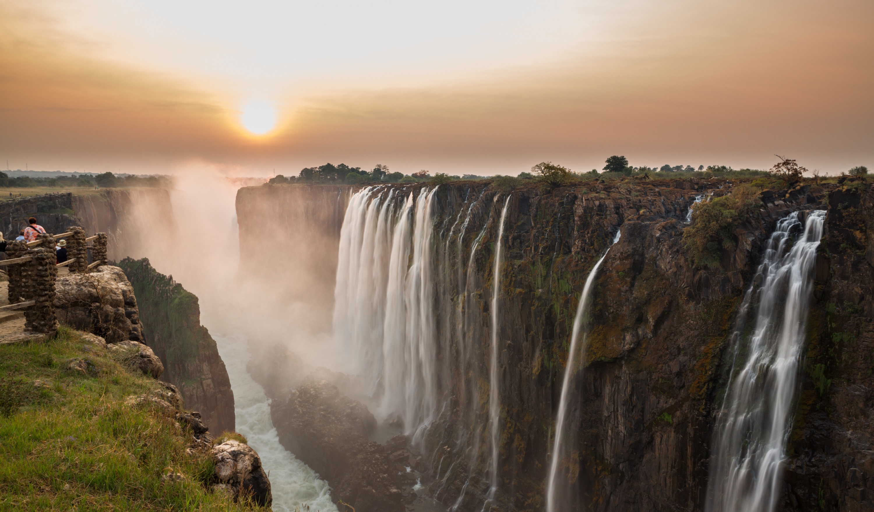 Victoria Falls taken on a slow shutter speed