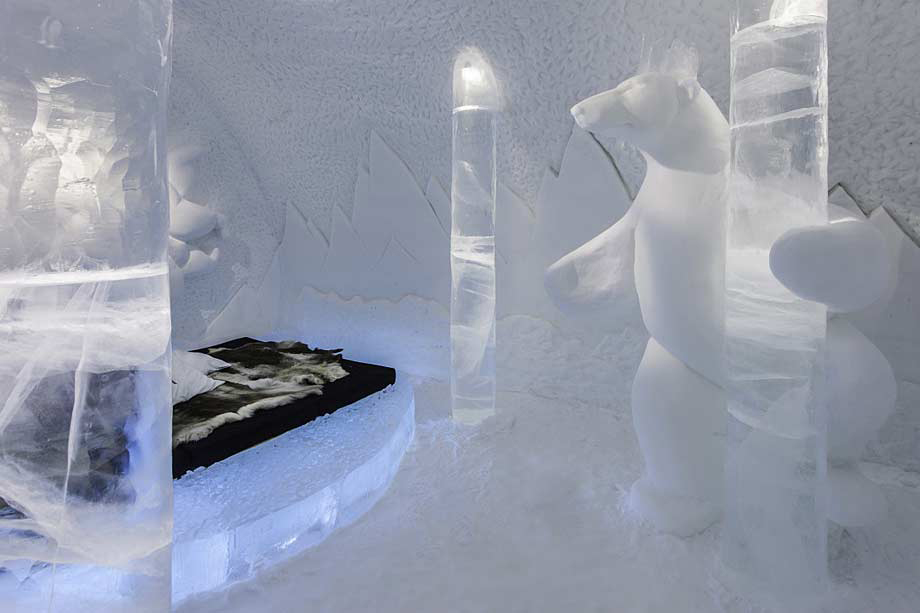 A room in the Icehotel