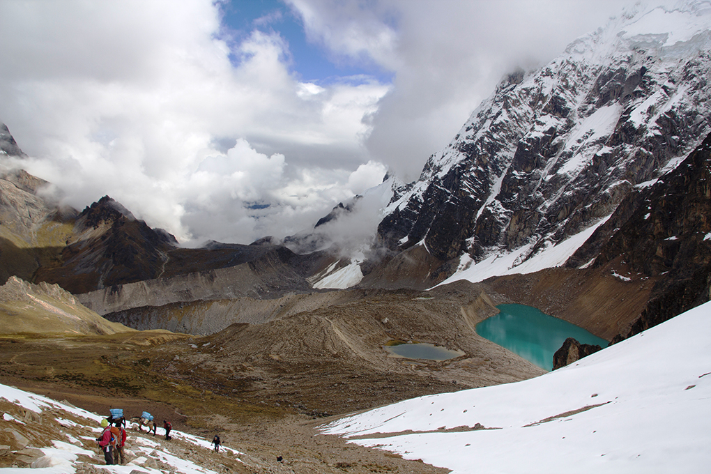 View from Inca Chiriasqa Pass