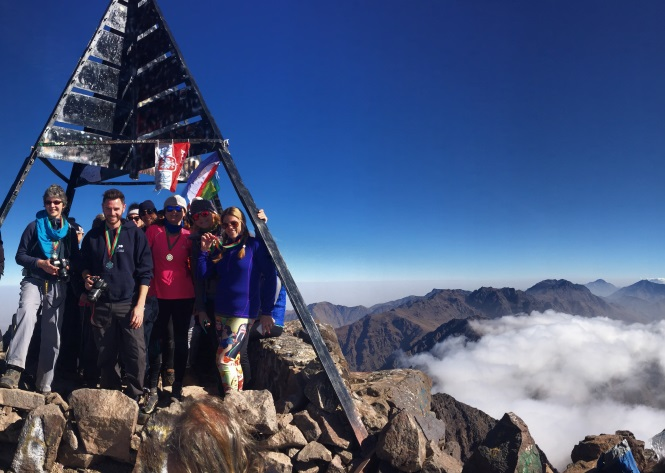 Toubkal summit - Jae and her friends