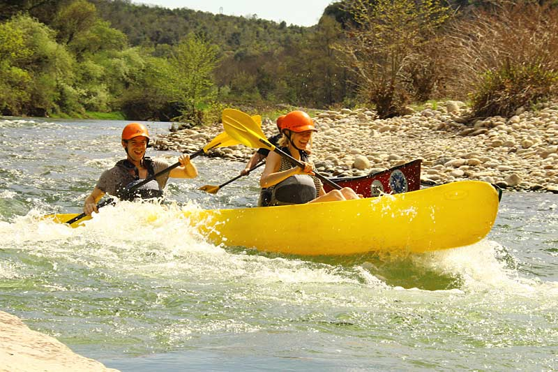 Kayaking the Ardeche river