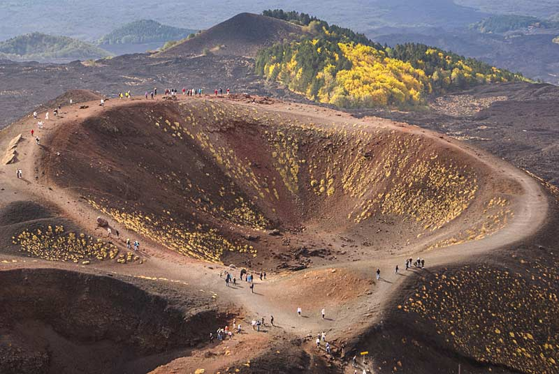 Etna's volcanic craters, Sicily