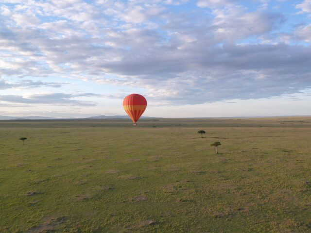 Hot air balloon ride in the Masai Mara
