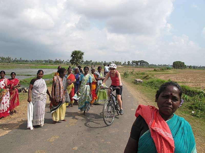 Cycling in rural India