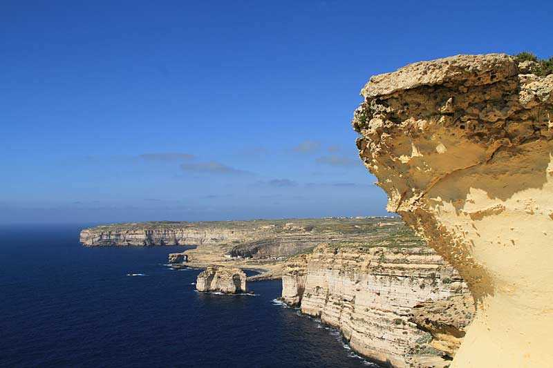 Gozo coastline, Xlendi Bay in the distance