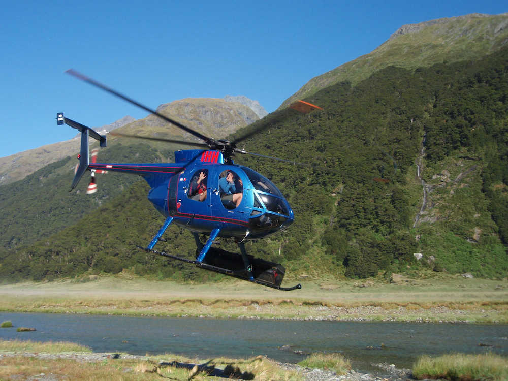 Heli hike in the national park