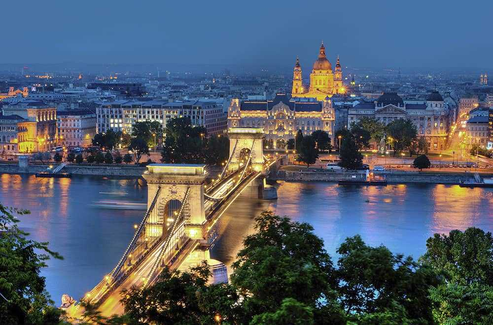 Budapest and River Danube by Night