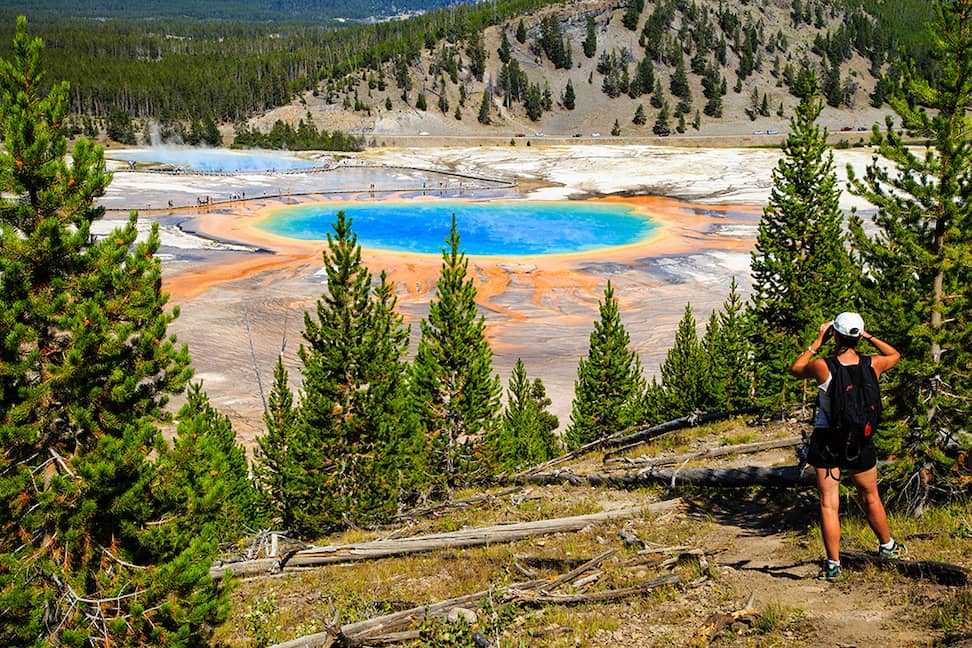 Yellowstone National Park's Grand Prismatic Spring