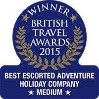 Winner - Bristish Travel Awards 2015