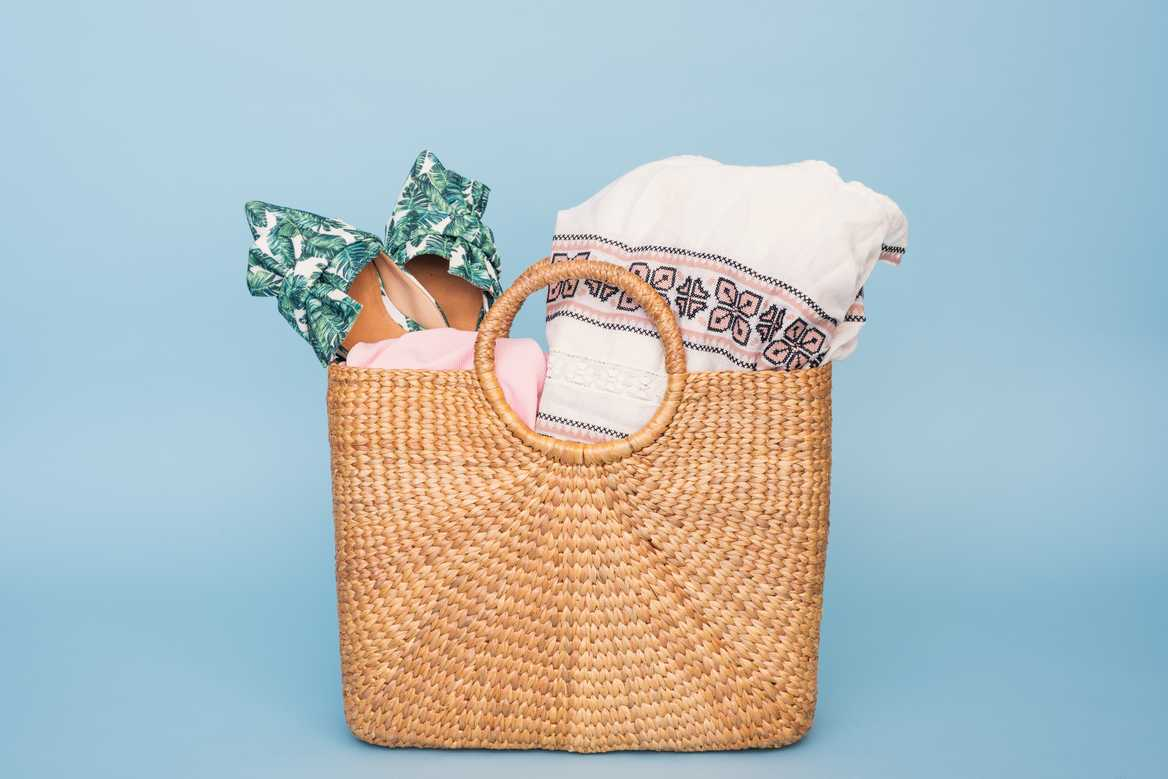 Summer bag with towel
