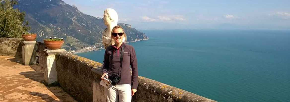 louise in amalfi
