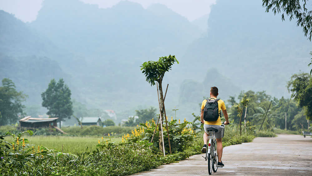 Cycling through Villages in Vietnam