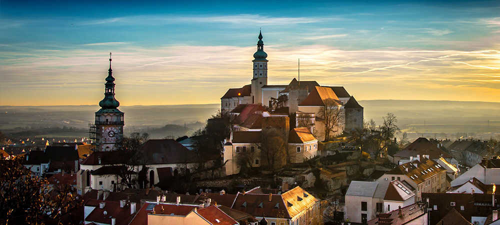 Cycling tour of Mikulov Castle, Czech Republic