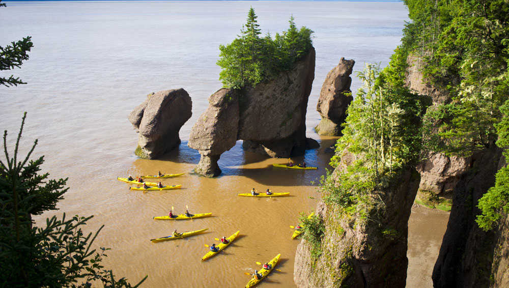 Kayaking in Bay of Fundy