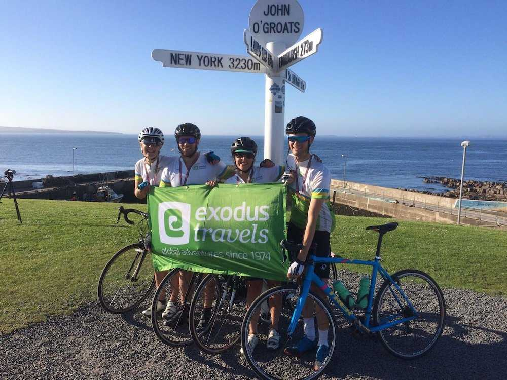 Our LEJOG team at John O'Groats