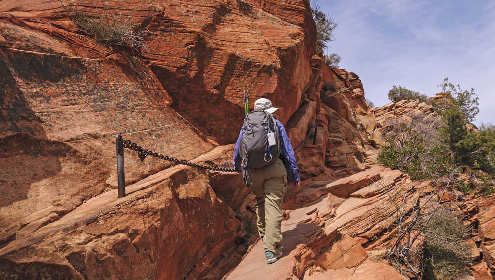 Man Hiking Zion National Park