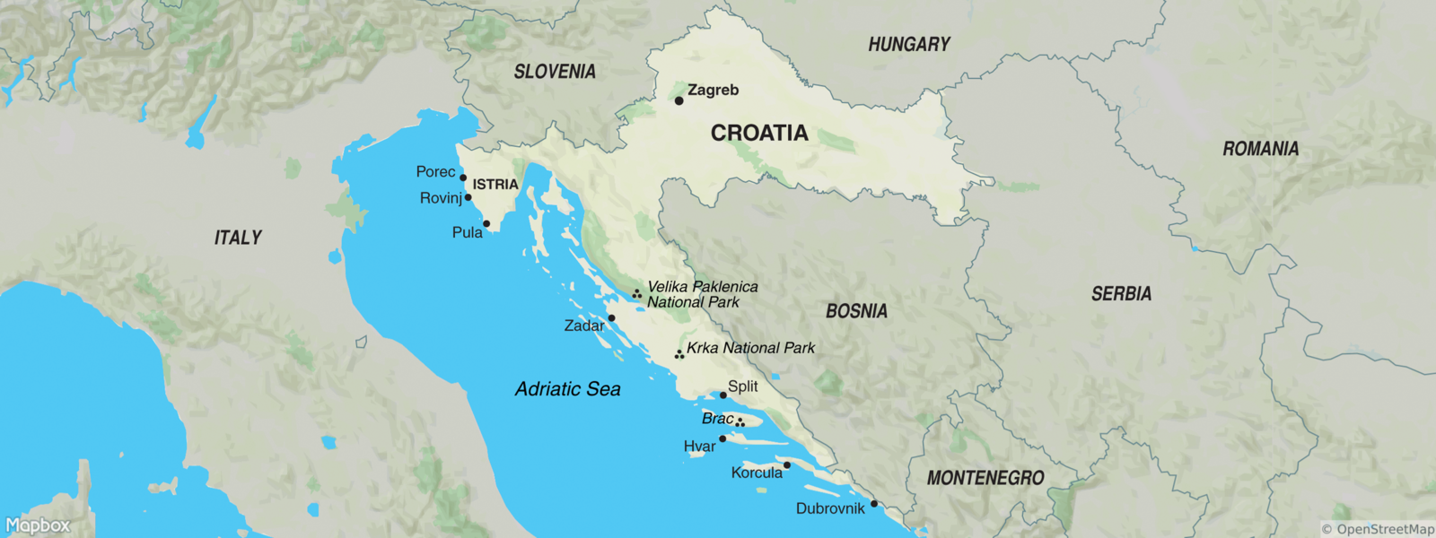 Croatia Map