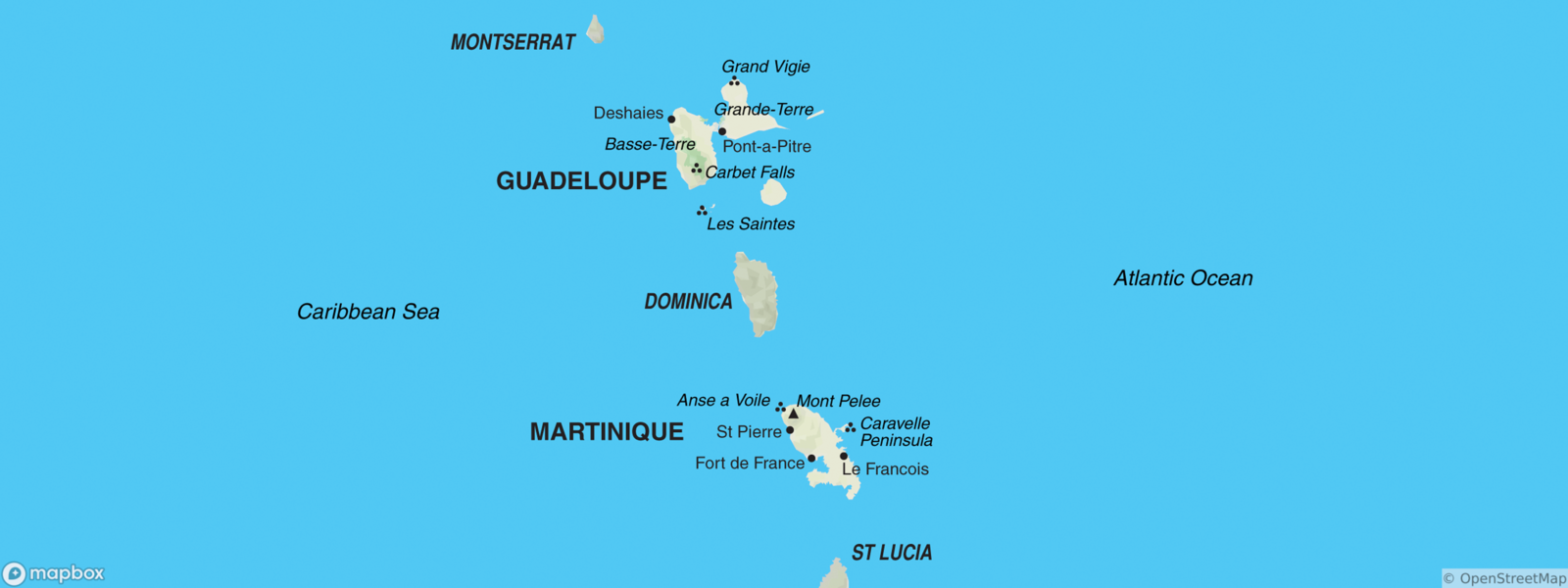 Martinique map
