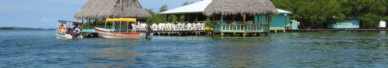 Waterside restaurant, Bocas del Toro Islands, Panama