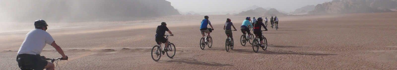 Cycling across the Wadi Rum desert
