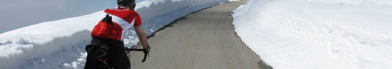 Cyclist on Mont Ventoux, France