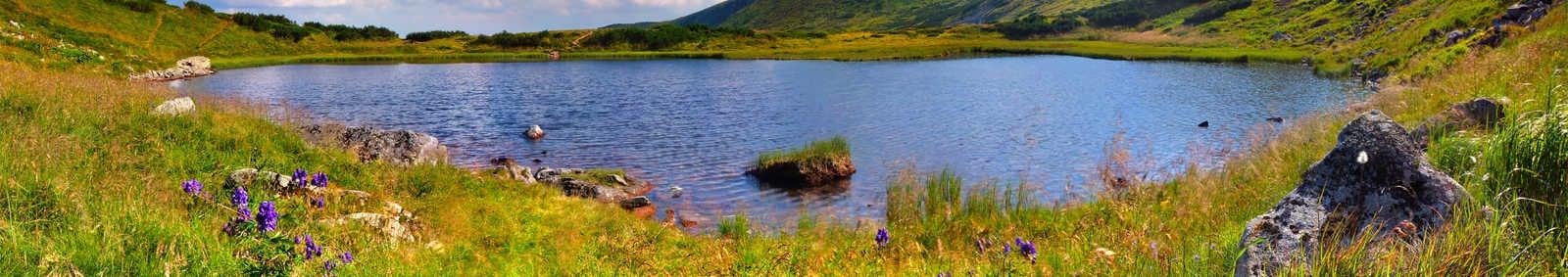 Lake in the Carpathian mountains