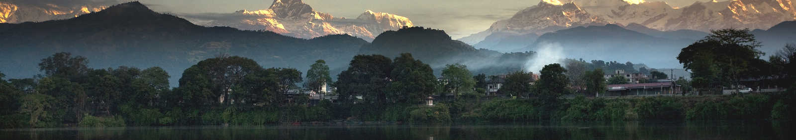 Pokhara, with the Annapurnas reflected, Nepal