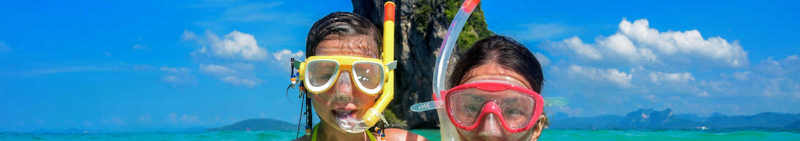 Family snorkeling, Thailand