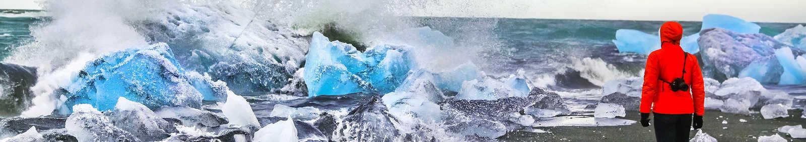 Lady on Ice, Iceland
