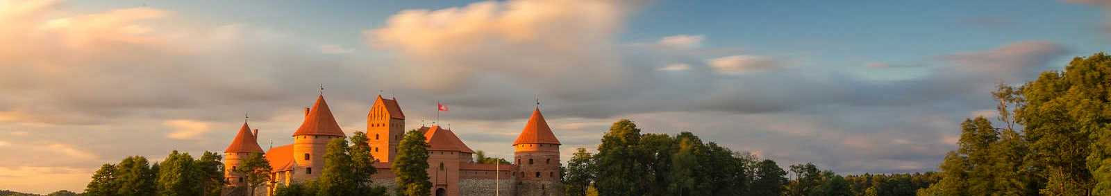 Old castle at sunset time, Trakai, Lithuania