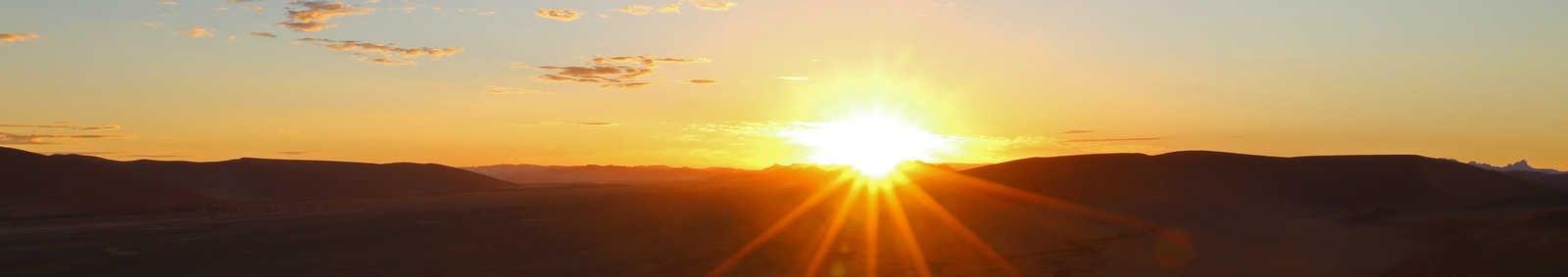 Sunset at the Namib Desert