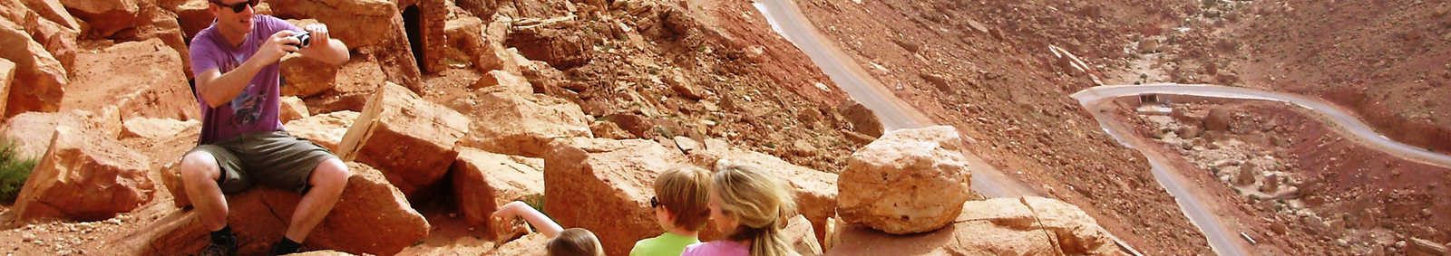 Family in the High Atlas Mountains