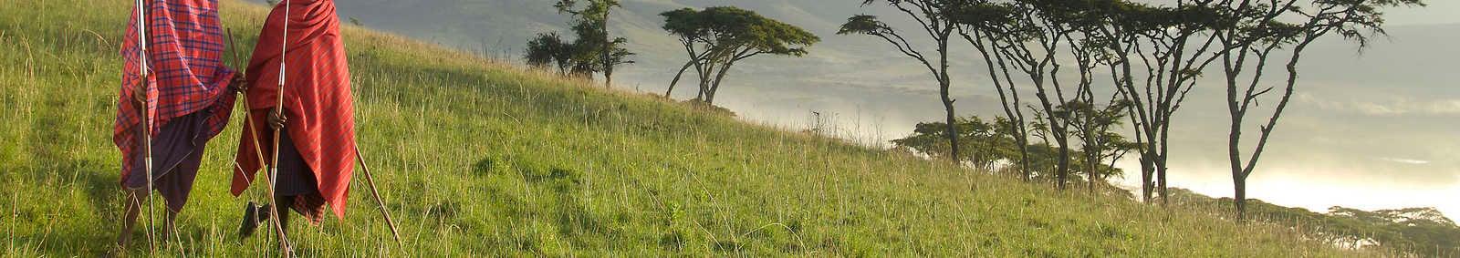 Ngorongoro Kirurumu sem-permanent tented camp views over the crater