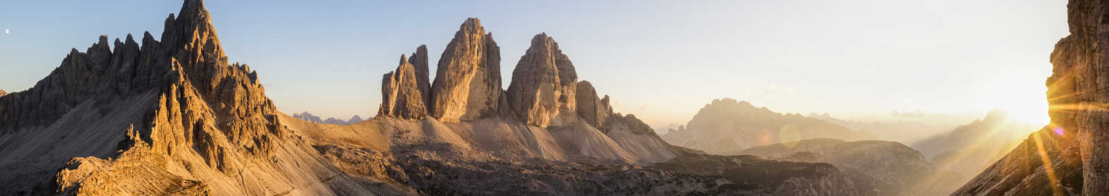 Sunset over the Tre Cime