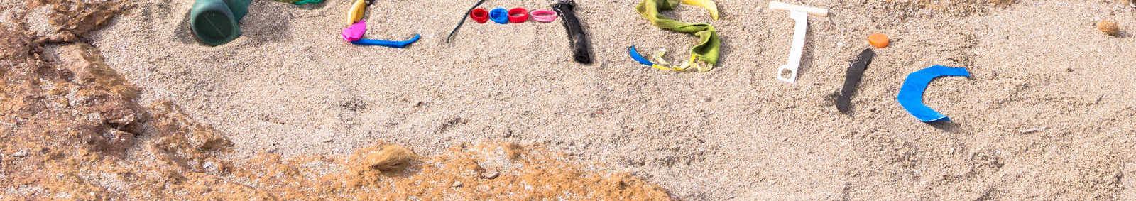 plastic on the beach