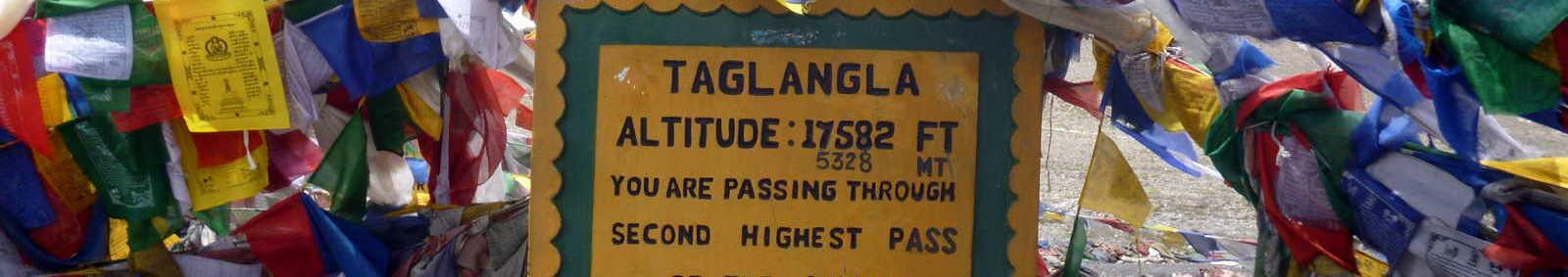 Taglangla altitude sign