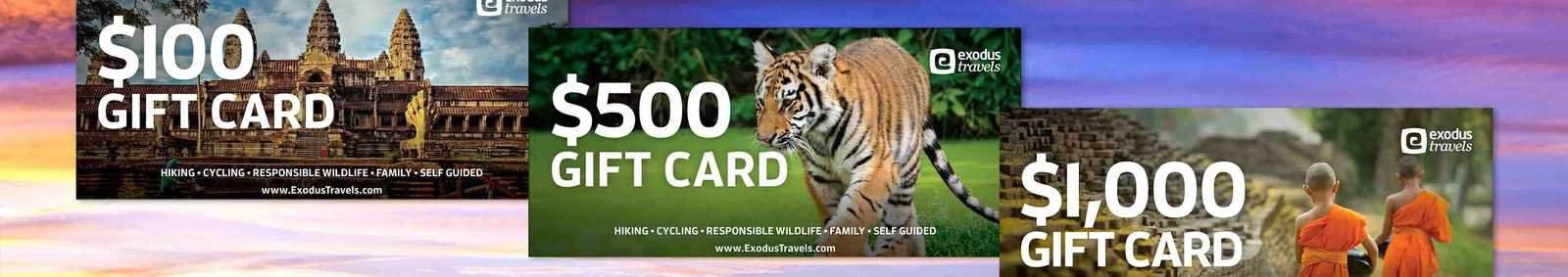 Exodus Travels gift cards
