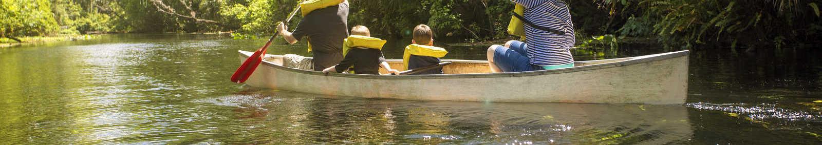 Family canoeing adventure