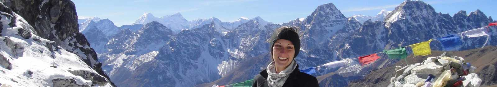Jenny atop the Cho La Pass, Nepal