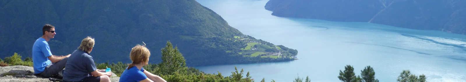looking across LustraFjord