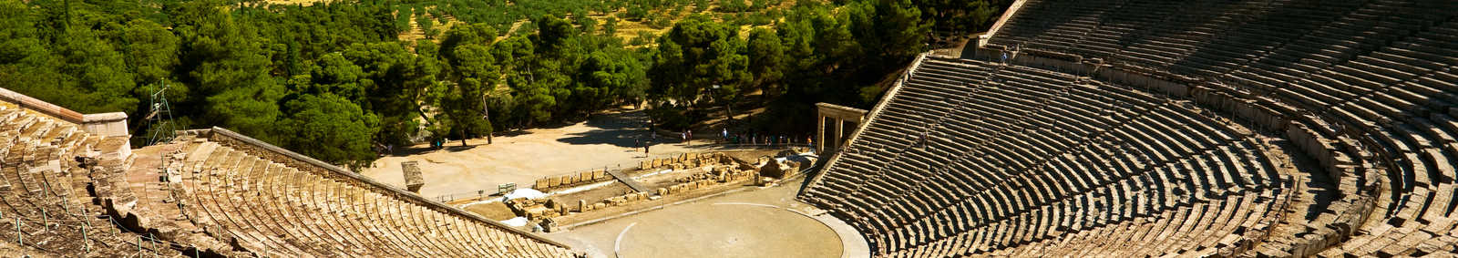 Greece. Ancient Theatre in Epidaurus (also Epidauros, Epidavros) built in 340 BC.