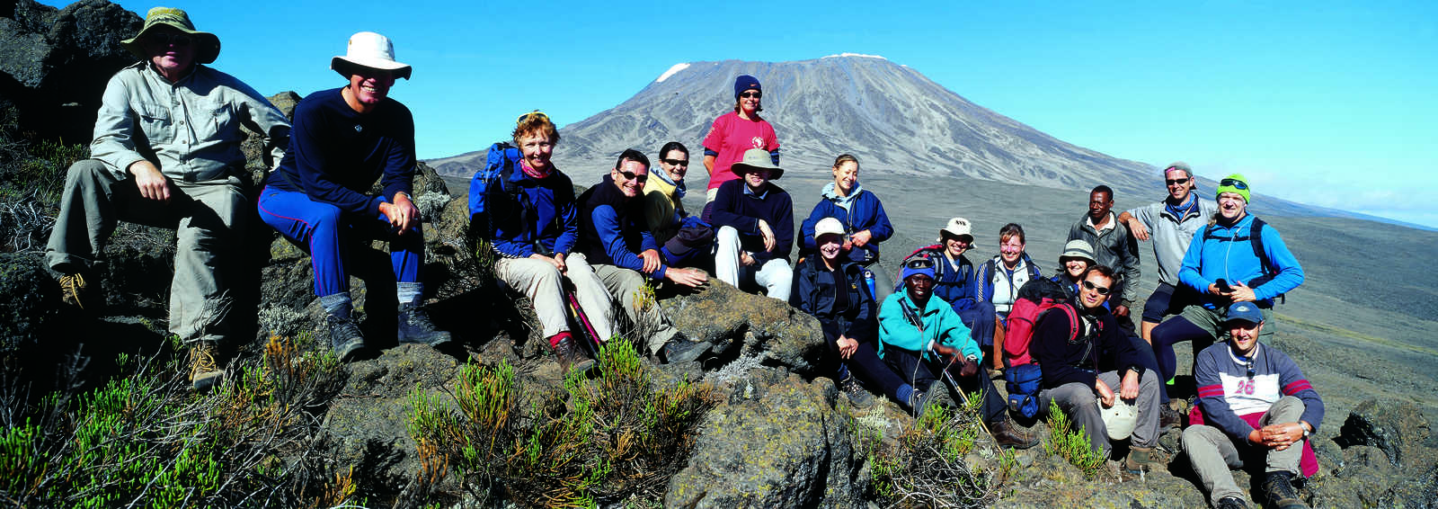 Group near the Saddle on Kilimanjaro, Tanzania