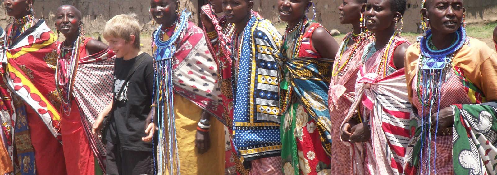 Boy with Masai women