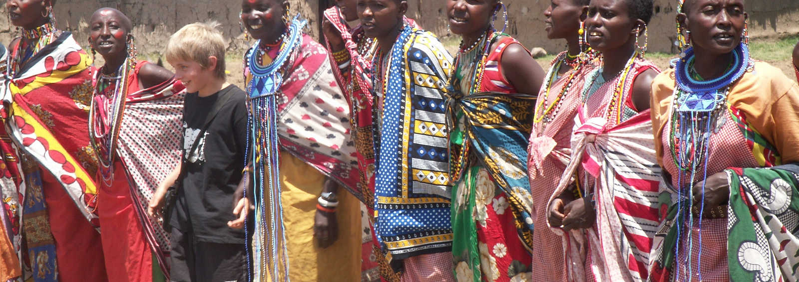 Boy with Masai women