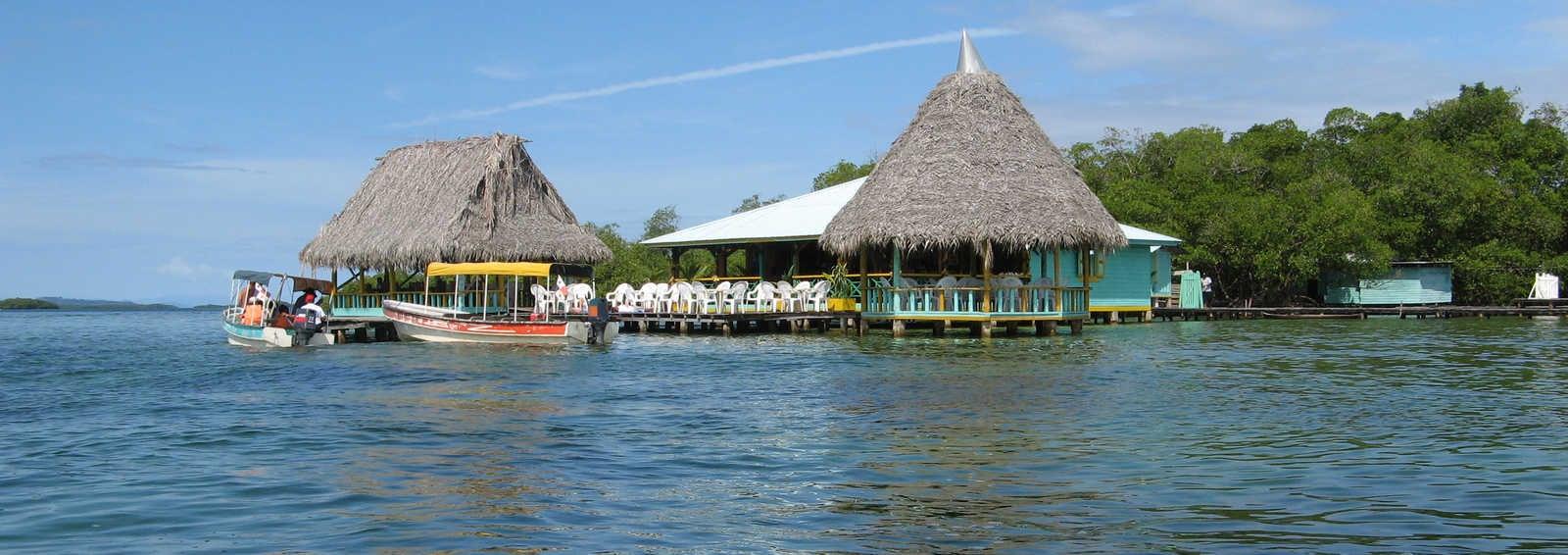 Waterside restaurant, Bocas del Toro Islands, Panama