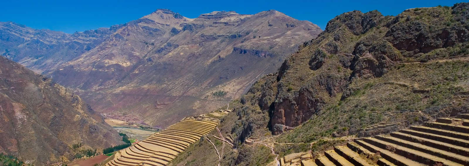 Terraces at Pisac in the Sacred Valley, Peru