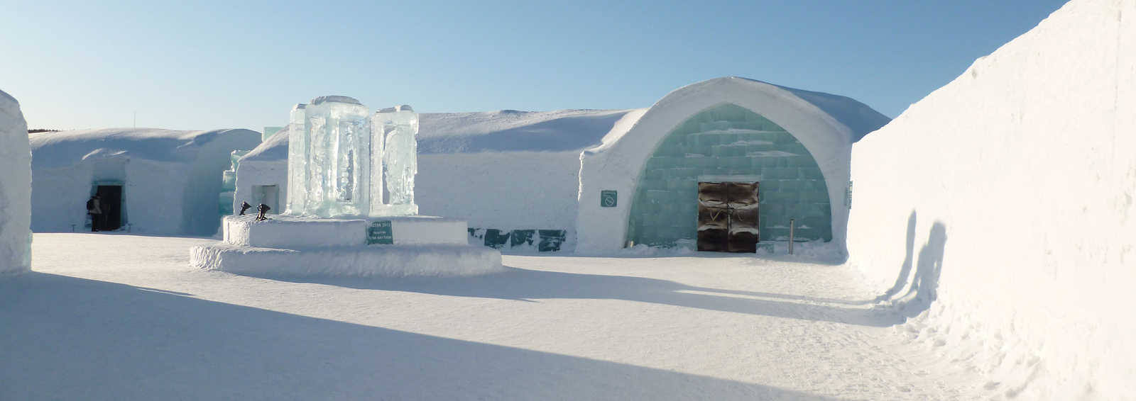 Icehotel entrance, Jukkasjarvi, Swedish Lapland