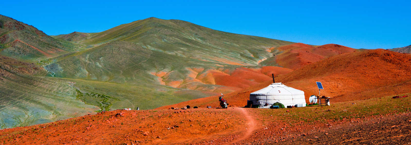 Mongolian ger in the mountains, Mongolia