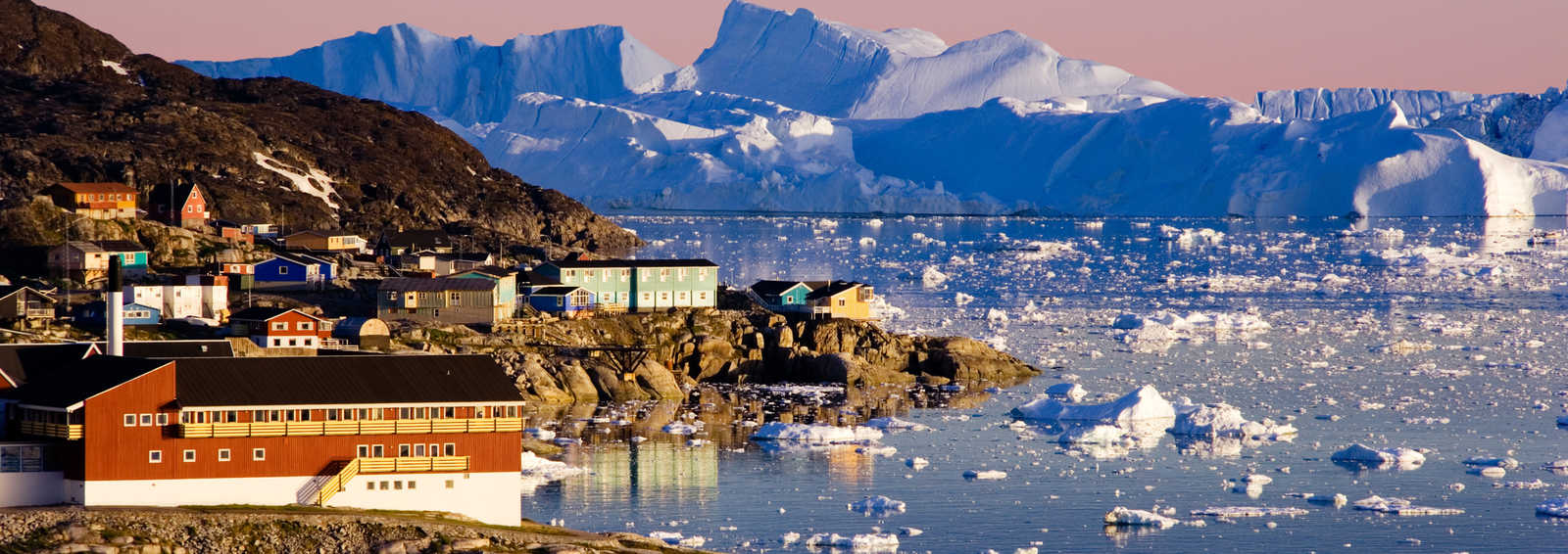 Icefjord of Midnight Sun